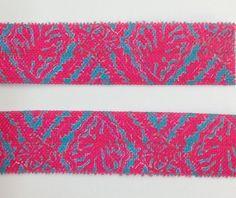 "3 Yards Neon pink nautical whale print 5//8/"" fold over elastic FOE"