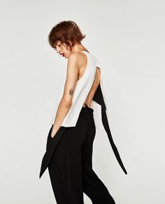 FLOWING TOP WITH BOW-TOPS-TRF | ZARA United States
