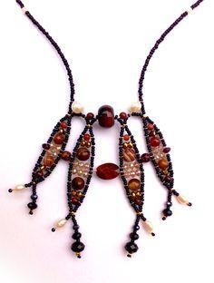 """""""Orpheus Bull's Eye"""" Necklace.  www.musesa.com"""