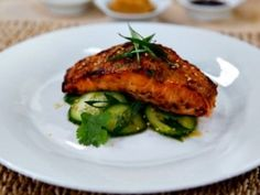 Cristina's Miso Salmon and Cucumber Salad Recipe - Cristina Ferrare