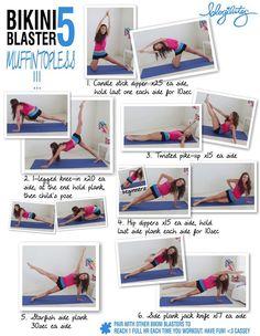 Get that summer body with the bikini blaster exercise! Pop Pilates, Pilates Video, Pilates Reformer, Pilates Workout, Bikini Workout, Pilates Logo, Pilates Studio, Beginner Pilates, Workout Body