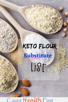 Check out this keto flour substitute list. Everything you need to know to make the perfect keto dessert! Check out this keto flour substitute list. Everything you need to know to make the perfect keto dessert! Keto Foods, Keto Diet Drinks, Keto Approved Foods, Keto Snacks, Keto Diet List, Starting Keto Diet, 7 Keto, Keto Meal, Ideas De Almuerzo Keto