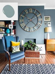 Twilight Blue (Atmospheric, Behr) - living room/dining room color