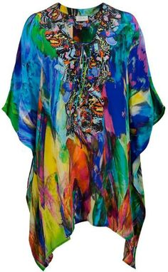 c20aa4ee0185c camilla short kaftans | Camilla Short Laceup Kaftan in Multicolor - Lyst  Tropical Fashion, Tropical