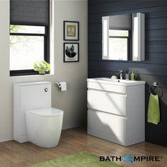 800mm Trent High Gloss White Double Drawer Basin Cabinet - Floor Standing