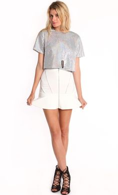 DISCO SILVER SEQUIN BOXY CROP TOP is on SALE! WWW.SHOPPUBLIK.COM #shoppublik #publik #sequincroptop #croptops