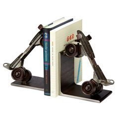 VINTAGE ROLLER SKATE BOOKENDS | old skates, metal | UncommonGoods (Built for books, not of books, but . . .)