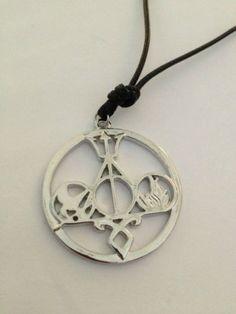 RARE Multi Fandom Necklace -Mortal Instruments Harry Potter Hunger Games Percy