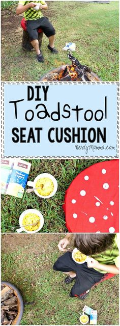 I LOVE this tutorial for this cute DIY Toadstool Seat Cushion. So adorable! I can't wait to make my own. #ad #BackToPlay #cbias