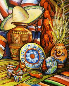 Exceptional Mexican Canvas Wall Art | Terrasse In Mexico Mural | WALL ART | Pinterest |  Art Prints And Prints