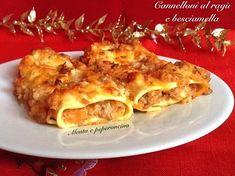 """I """"Cannelloni al ragù e besciamella"""" sono un primo piatto ricco e sostanzioso,ideali da realizzare con in occasioni speciali,oggi vi propongo la mia ricetta"""