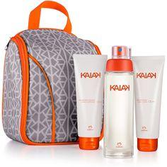Presente Natura Kaiak - Desodorante Colônia Feminino 100ml + Desodorante Hidratante Corporal Perfumado 125ml + Sabonete Líquido para o Corpo 125ml + Nécessaire Multiuso + Embalagem - 66243