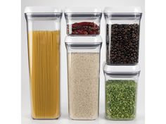 OXO Good Grips POP Container – Airtight Food Storage – Qt for Coffee and More Price: (as of - Details) OXO Good Grips POP Containers are airtight, stackable and space-efficien. Container Organization, Pantry Organization, Organization Station, Organizing Ideas, Conservation, Oxo Pop Containers, Flour Container, Licht Box, Ideas Prácticas