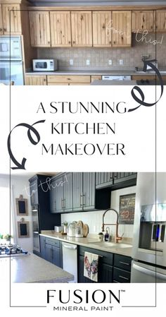 Amazing Fusion Mineral Paint Kitchen Makeover • Fusion™ Mineral Paint