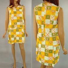 Vintage 60s Orange Retro Skirted Shorts Jumper by MYVINTAGELADY, $42.00