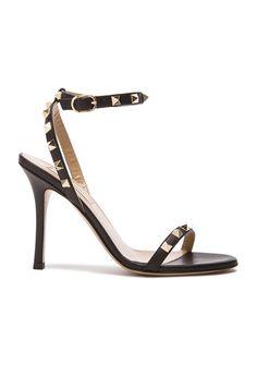 Leather Rockstud T.100 Sandals