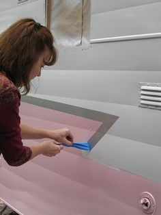 1964 Shasta Travel Trailer: Painting the 1964 Shasta PINK! Before & After Pictures  Check this out before painting!