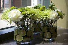 Lime Green centerpiece