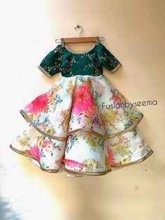 Baby Girl Dress Design, Girls Frock Design, Kids Frocks Design, Baby Frocks Designs, Baby Design, Cotton Frocks For Kids, Frocks For Girls, Dresses Kids Girl, Indian Dresses For Kids