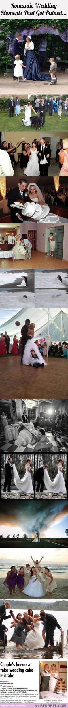 13 Romantic Wedding Moments That Got Ruined…