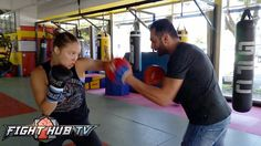 Ronda Rousey looks 100% after rehab; Ripping super fast left hooks w/ Ed...