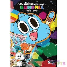 """"""" Gumballs world is pretty run-of-the-mill. Hes chased around school by a T-Rex. He has a friend named Anton whos a piece of toast. Hes got a crush on Penny, a peanut with antlers. His dad is a 64 bun"""