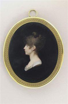 Charles Guillaume Alexandre Bourgeois, Portrait de Mme Fanny Morlot, née Bécuvre, 1812