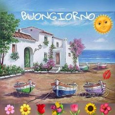 Good Morning Picture, Morning Pictures, Good Morning Wishes, Morning Images, Good Morning Quotes, Italian Greetings, Italian Memes, Cottage Art, New Years Eve Party