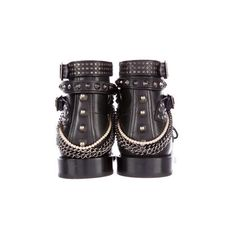 Saint Laurent 2016 Studded Ranger Boots ($915) ❤ liked on Polyvore featuring shoes, boots, ankle booties, black ankle boots, black leather bootie, laced up ankle boots, lace up ankle boots and black lace-up boots