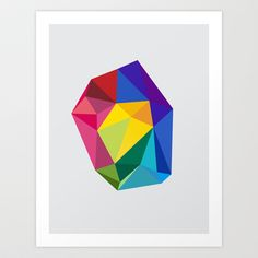 Geometric - Landscapes 1/4 Art Print by Three Of The Possessed - $17.68
