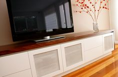 Cabinet with mesh