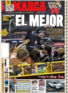 Te presentamos 'El Papelón' del 3 de mayo. Real Madrid, Campeón y triunfo de América, acaparan los rotativos.