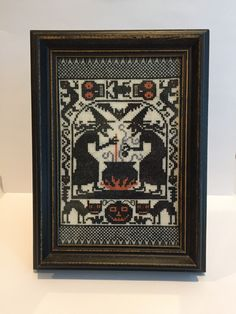 Witch's Brew is a Vintage Halloween Cross Stitch