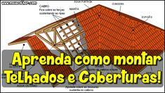 Aprenda como montar Telhados e Coberturas!   Meia Colher
