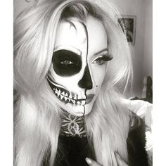 Pin for Later: 32 Skeleton Makeup Transformations For a Halloween Beyond the Grave