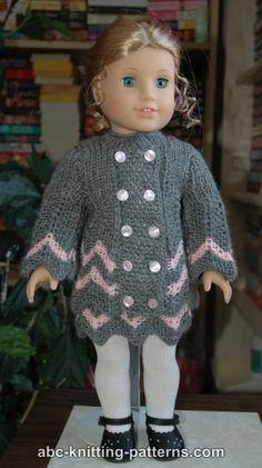 ABC Knitting Patterns - American Girl Doll Chevron Jacket