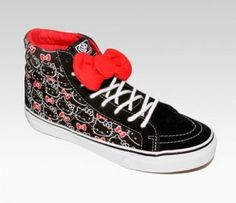 314bd59cc88fbc Vans Authentic Hello Kitty Sk8 Hi Slim Black True White Womens Shoe Classic Hello  Kitty Vans