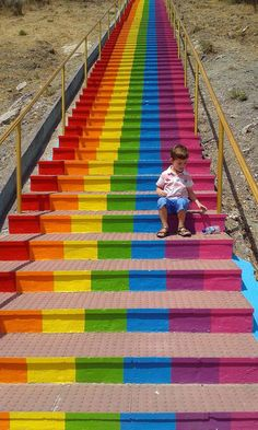 ESTEPONA TOP TEN: Rainbow steps