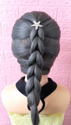 Braided ponytail hairstyle, try it. Easy to learn - Frisuren - - Haar - Braided ponytail hairstyle, try it. Easy to learn - Frisuren - Braided ponytail hairstyle, try it. Easy to learn - Frisuren - Braided Ponytail Hairstyles, Box Braids Hairstyles, Girl Hairstyles, Ponytail Easy, Hairstyles Videos, Hair Upstyles, Long Wavy Hair, Thick Hair, Hair Videos
