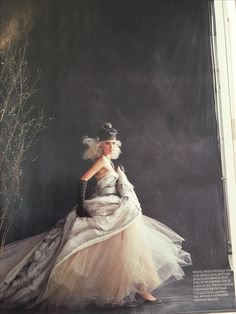 Fur and toile wedding dress
