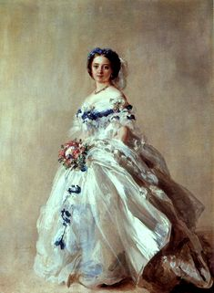Victoria, Princess Royal, Crown Princess Friedrich of Prussia, portrait by Franz Xaver Winterhalter, 1856.