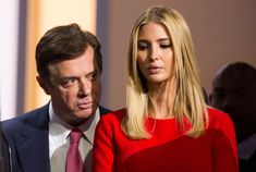 CLEVELAND, OH - JULY 21: Trump campaign chairman Paul Manafort speaks to Ivanka Trump, daughter of Republican nominee Donald Trump at the Republican Convention, July 21, 2016 at the Quicken Loans Arena in Cleveland, Ohio. (Photo by Brooks Kraft/ Getty Images)
