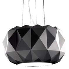 Deluxe Pendant by Leucos Lighting | Black pendant back up plan.