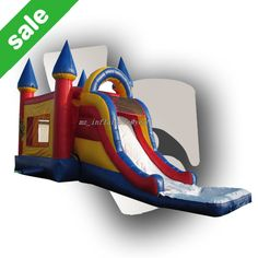 2014Hot sale jumping castles inflatable water slide