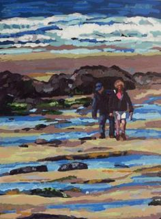 "Saatchi Art Artist Andrew Francis; Painting, ""Freshwater West"" #art"