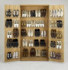 Shoe cabinet SOLITAER – lots of storage space for shoes The post Shoe cabinet SOLITAER – lots of storage space for … appeared first on Woman Casual - Home Inspiration Closet Shoe Storage, Diy Shoe Rack, Shoe Cupboard, Shoe Cabinet, Home Decor Furniture, Furniture Design, New Swedish Design, Shoe Organizer, Easy Home Decor