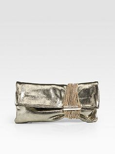 cabc939e8b Jimmy Choo - Chandra Metallic Lizard-Embossed Leather Multi-Chain Clutch.  Girls Winter JacketsWedding BagEvening ...