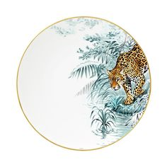 Hermès Carnets d'Equateur Americaine Panthere Dinner Plate