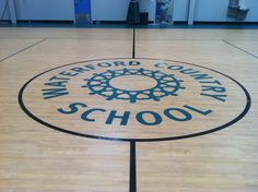 Waterford Country School's Otto Graham Gymnasium in Waterford, CT. - A welcome sound in the new gymnasium as students dribbled basketballs as the first class took the court.