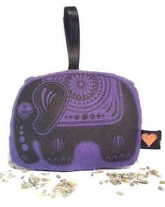 Sugar Elephant Lavender Bag Decoration Screen Printed Aromatic Sachet Purple